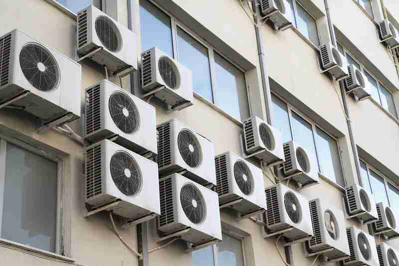 Unpleasant view of outdoor unit AC